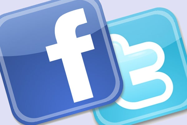 Facebook and Twitter apps