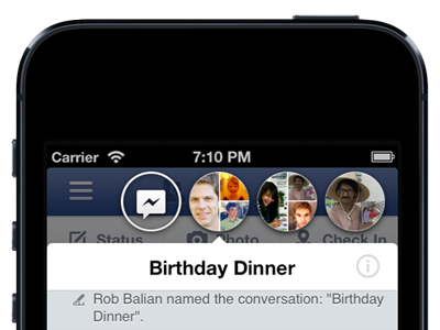 Facebook iPhone iPad app update