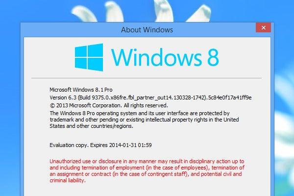 Windows 8.1 screenshot