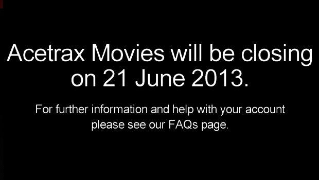 Acetrax Movies closure