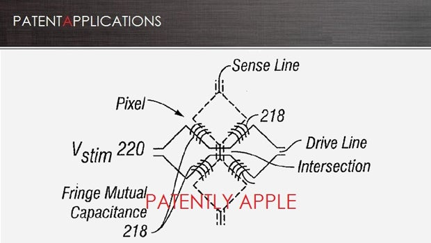 Apple larger display touch screen patent