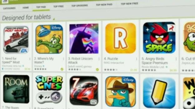 Google Play: Designed for Tablets