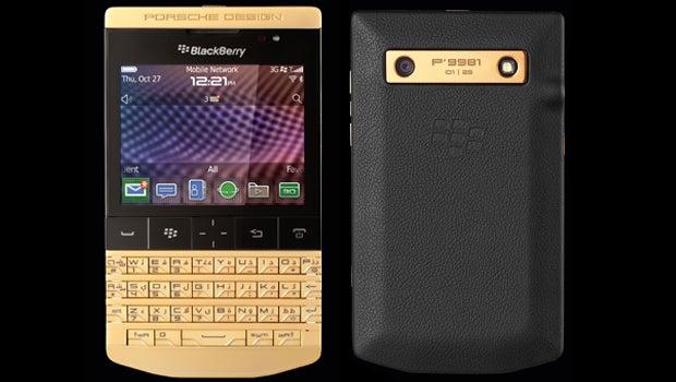 Porsche Design BlackBerry P9981 given 24-carat golden makeover ...