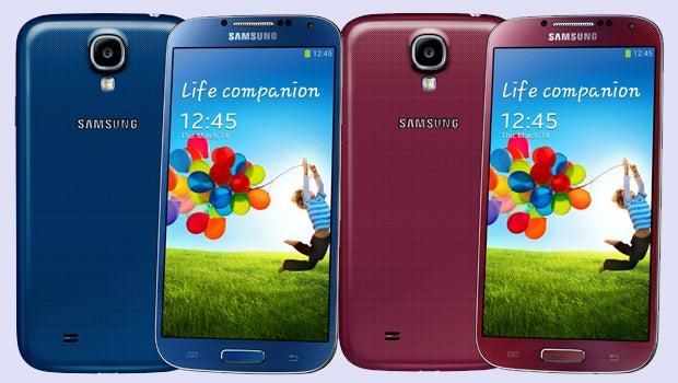 Samsung Galaxy S4 Red Aurora and Blue Arctic