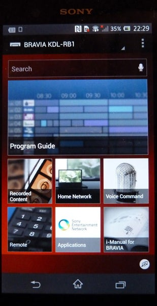 Sony 2013 Smart TV interface