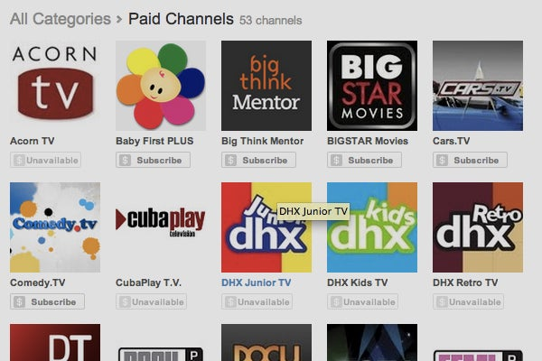 YouTube's first paid channels now being piloted
