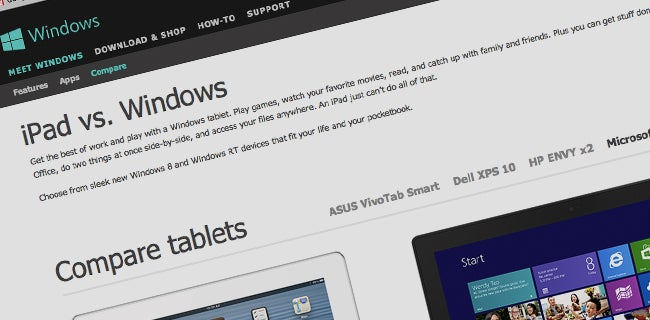 Microsoft takes the fight to Apple with new 'iPad vs Windows