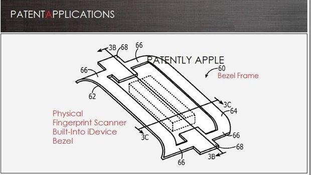 Apple fingerprint patent