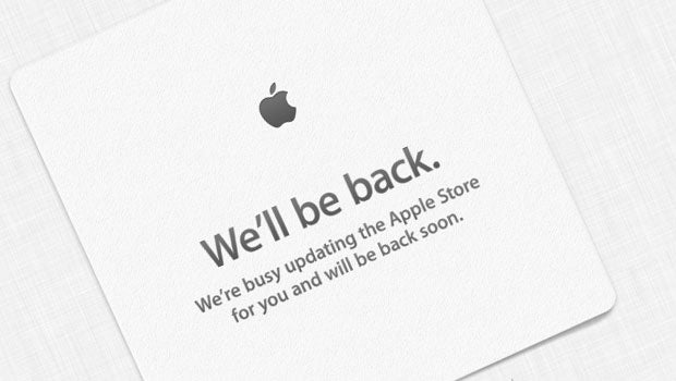 Apple store online updating