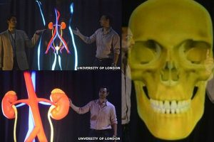 Giant holograms used for medical lecture