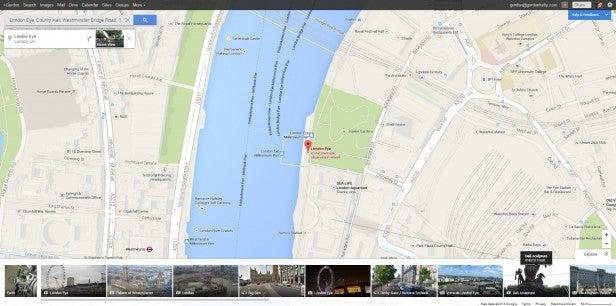 Google Maps London Eye