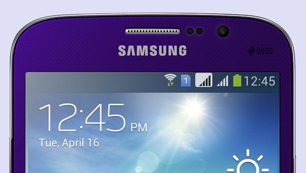 Samsung Galaxy Mega in plum purple