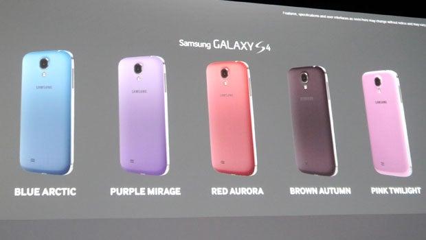 Samsung Galaxy S4 Colours