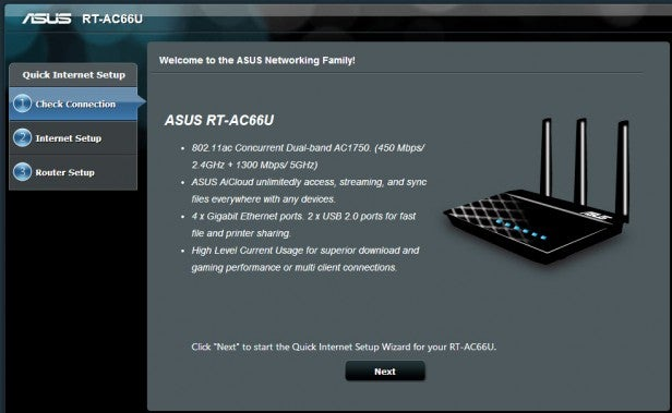 Asus rt ac66u 80211ac router review trusted reviews asus rt ac66u setup greentooth Image collections