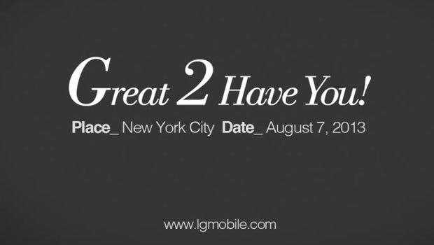 LG Optimus G2 launch invite