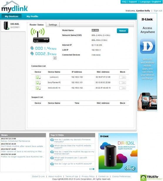 D-Link DIR-868L Cloud Router Review | Trusted Reviews