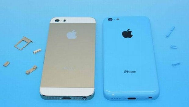 iPhone 5S and iPhone 5C snapped side-by-side | Trusted Reviews