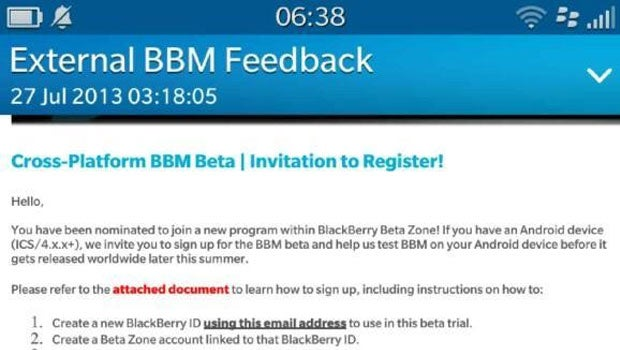 BBM Android Beta