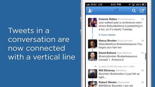 Twitter conversation view