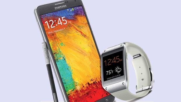 Samsung Galaxy Note 3 and Galaxy Gear smartwatch