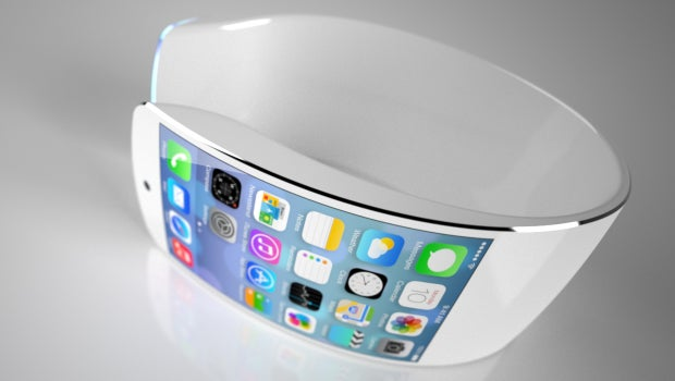 Apple iWatch concept with flexible display