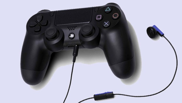 PS4 Dualshock 4 controller and headset
