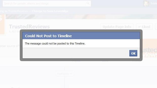 Facebook status issues