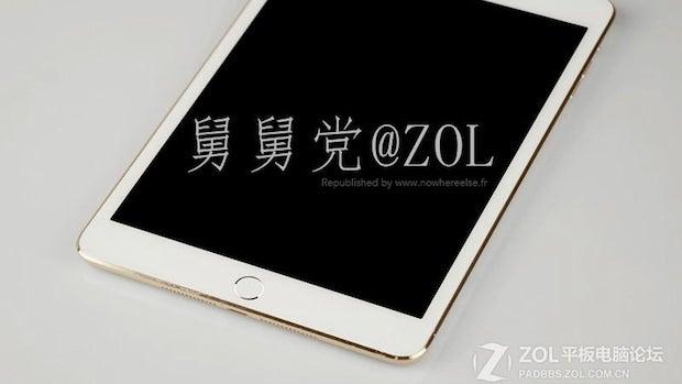 iPad mini 2 gold