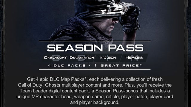 Call of Duty: Ghosts DLC pack names leaked