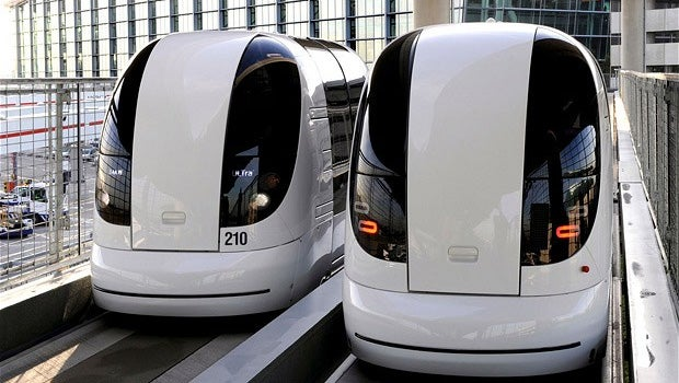 Heathrow's Terminal 5 driverless pods