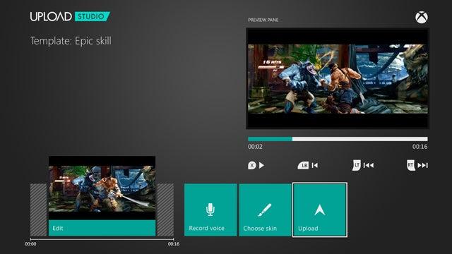 Xbox One Upload Studio