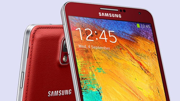 Red Samsung Galaxy Note 3