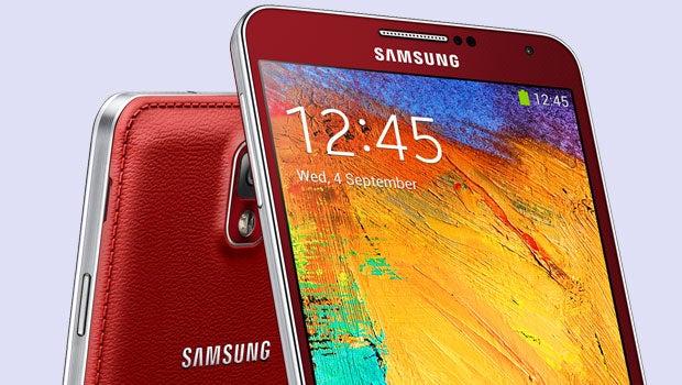 Red Samsung Galaxy Note 3