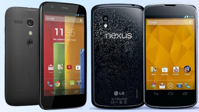 Nexus 4 vs Moto G