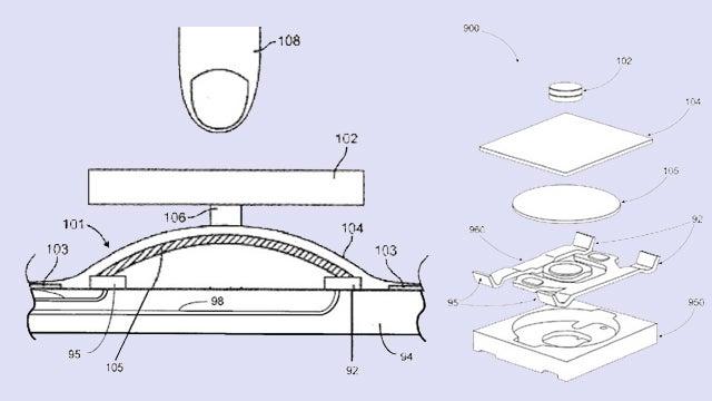 Apple Liquidmetal home button patent