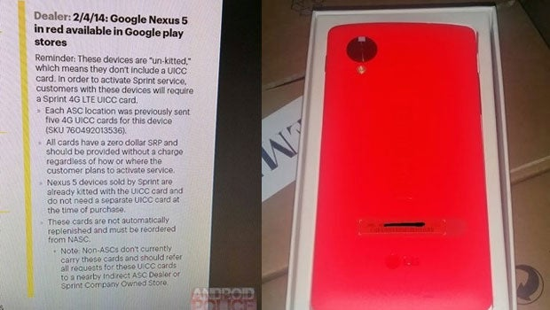 Red Google Nexus 5