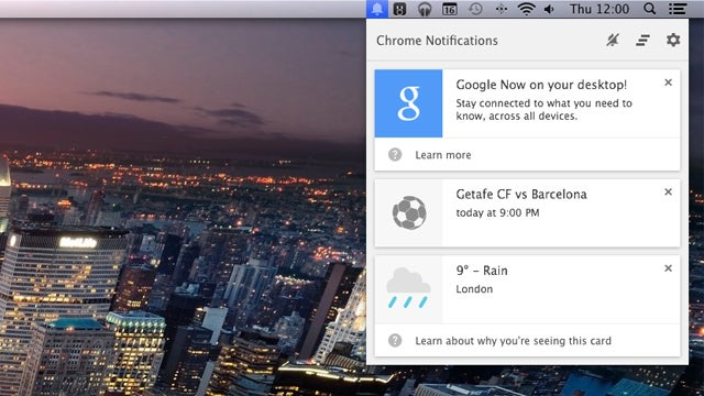 Google Now card notifications arrive in the latest Chrome Canary build