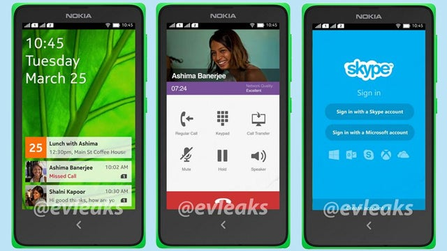 Nokia Android smartphone UI