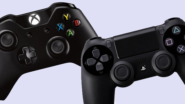 PS4 and Xbox One controllers