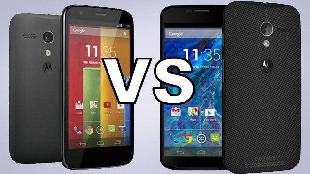 Motorola Moto G vs X 4