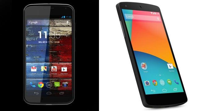 Moto X vs Nexus 5