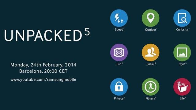Samsung Unpacked 5 event live stream invite