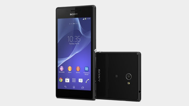 The Sony Xperia M2 will also come in white and purple