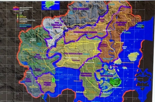 red dead map