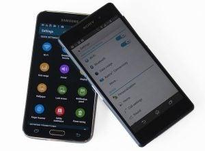 Xperia Z2 vs Galaxy S5 8