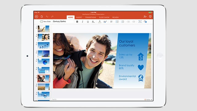 Office for iPad keyboards