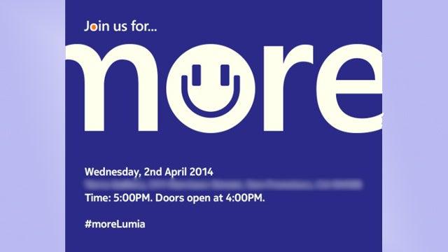 Nokia Lumia event invite