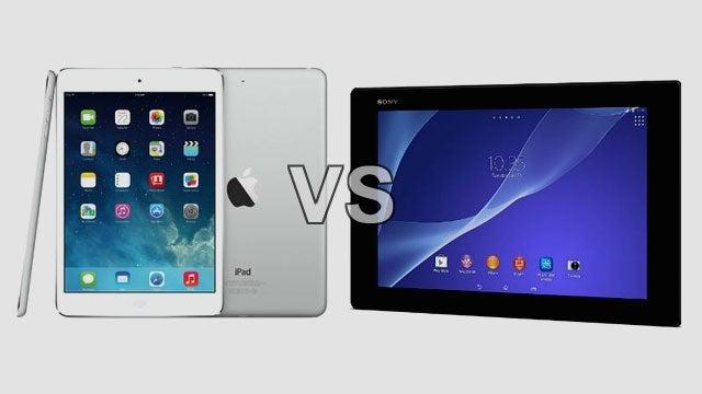 iPad Air vs Xperia Tablet Z2 8