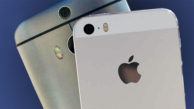 HTC One M8 vs iPhone 5S | Trusted Reviews