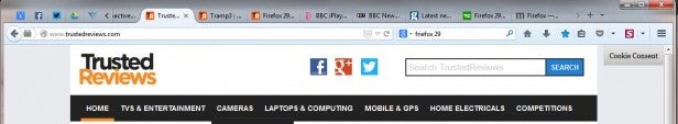 Firefox 29 tabs